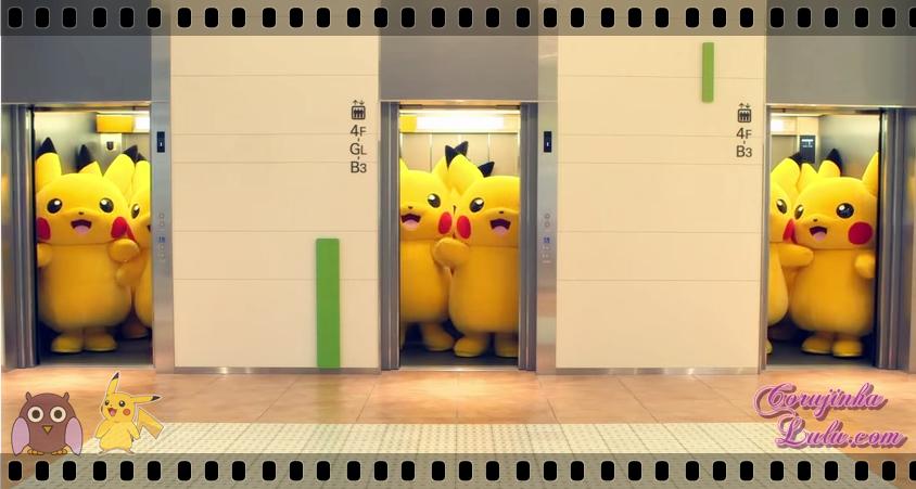 """Pikachus no comercial para o """"Pikachu Outbreak"""""""