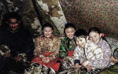 Família Samoiedo, foto sem data