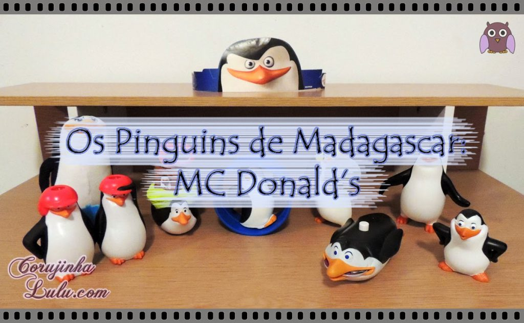 Os Pinguins de Madagascar - Mc Lanche Feliz do Mc Donald's recruta kowalski rico capitão