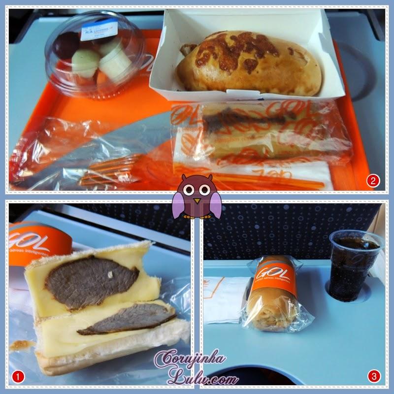 Refeições no voo Gol | ©CorujinhaLulu.com