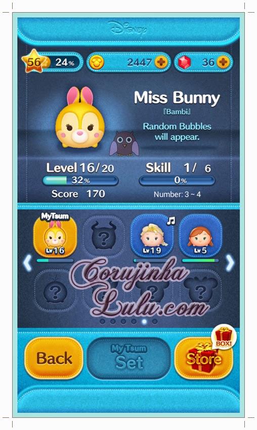 miss bunny bambi disney app tsum tsum line