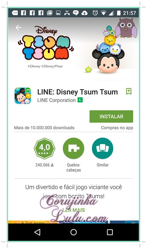 Como instalar o game Tsum Tsum #1 disney line
