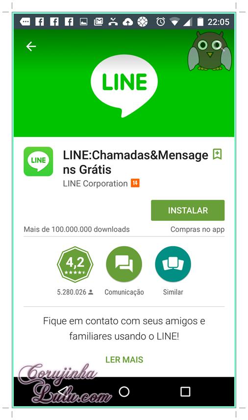 Como instalar app Line chamadas e mensagens gratis #1