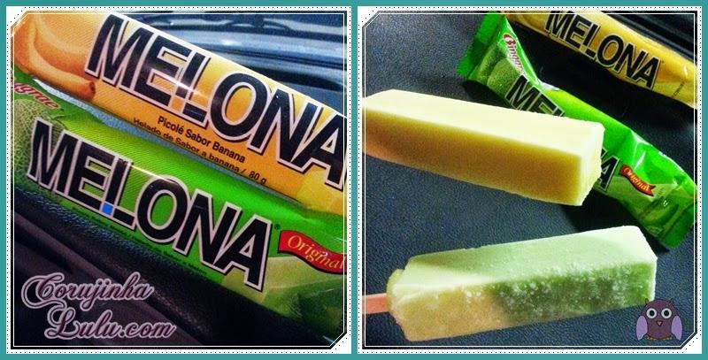 Picolé Melona de Banana e de Melão sorvete binggrae