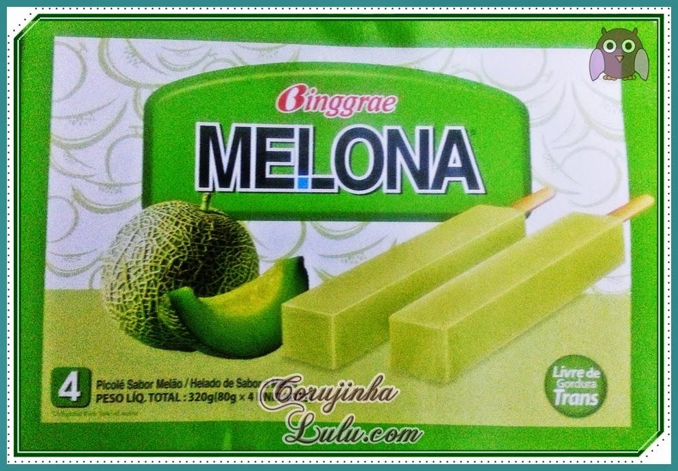 O delicioso sorvete picole Melona da Binggrae melão manga banana morango