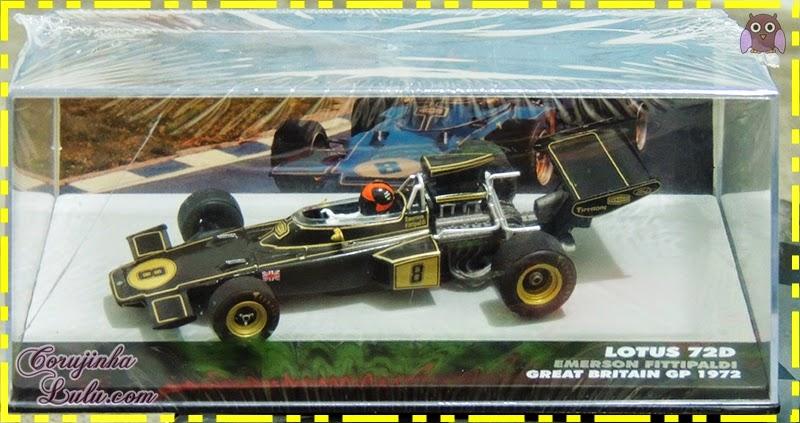 Coleção Lendas Brasileiras do Automobilismo emerson fittipaldi fitipaldi carros carrinhos fórmula 1 piloto lotus 72d great britain gp 1972 Eaglemoss