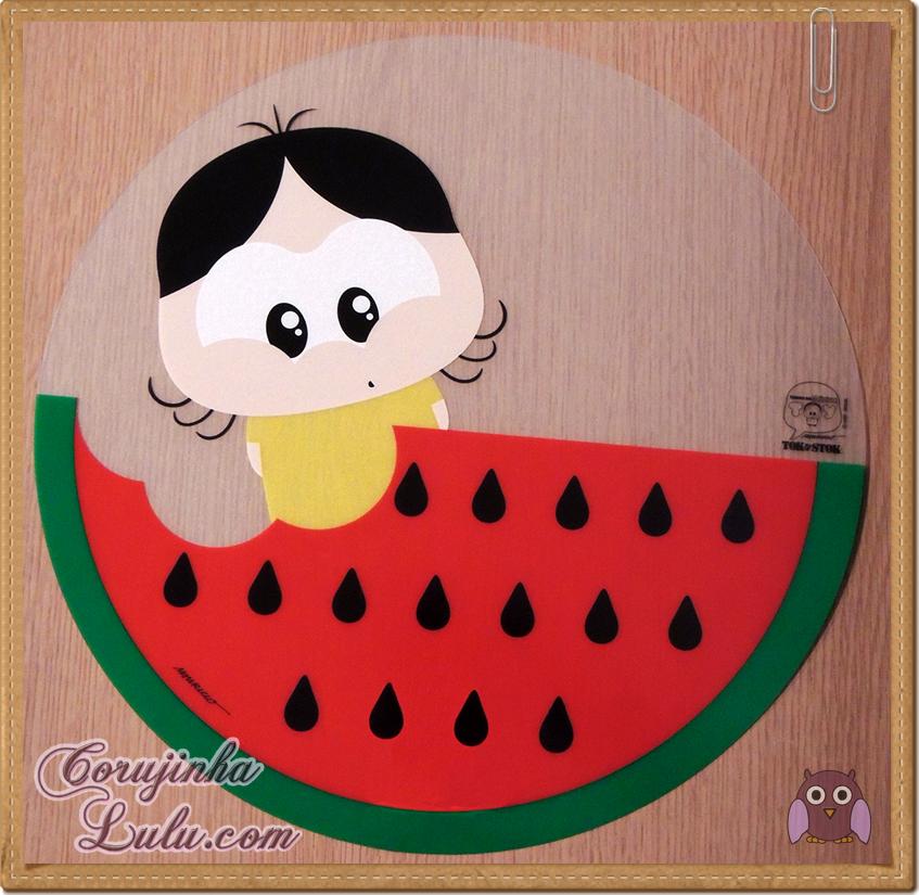 Coleção comemorativa 50 anos da Turma da Mônica na Tok Stok Tok&Stok mauricio de sousa magali jogo americano toy art melancia