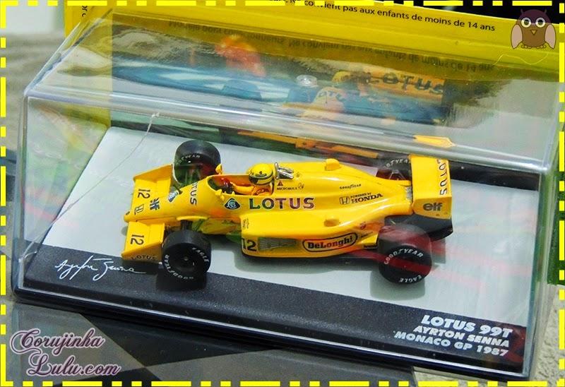 Coleção Lendas Brasileiras do Automobilismo ayrton senna carros carrinhos fórmula 1 piloto lotus 99t monaco gp 1987 Eaglemoss