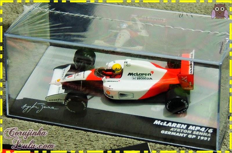 Coleção Lendas Brasileiras do Automobilismo ayrton senna carros carrinhos fórmula 1 piloto mclaren mp4/6 germany gp 1991 Eaglemoss