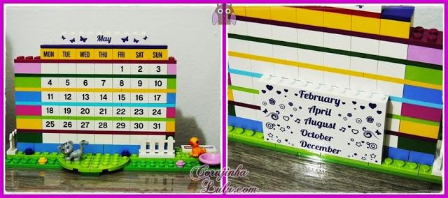 Lego Friends Brick Calendar calendario de lego meninas rosa fofo dica escondido | © corujinhalulu