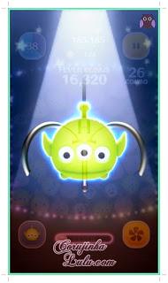 tsum tsum celular aplicativo app bingo cartela 4 mission tarefa missão alien toy story Screenshot do gameplay | ©CorujinhaLulu.com