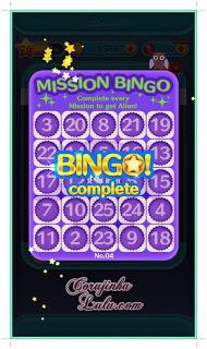 tsum tsum celular aplicativo app bingo cartela 4 mission tarefa missão alien toy story Screenshot do gameplay   ©CorujinhaLulu.com