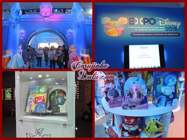 Expo Disney 2015 divertida mente princesas decoração loja brinquedos pelúcia cadernos | ©CorujinhaLulu.com