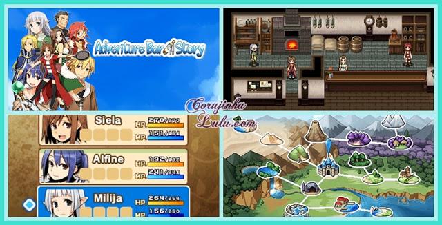 gameplay screenshot Adventure Bar Story, um RPG viciante e cheio de aventura 3ds ios android google play iphone ios ipad ipod restaurante chef receita monstros mago elfa ladrão arqueiro ação | ©CorujinhaLulu.com