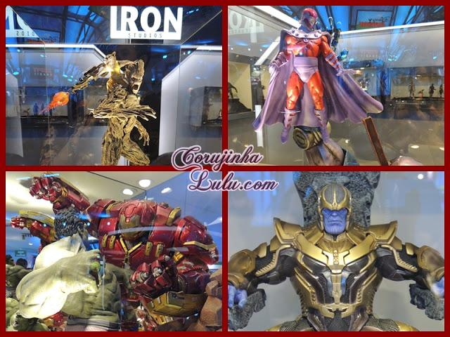 Expo Disney 2015 decoração iron studios marvel magneton esculturas hulk homeme de ferro groot avengers x-man guardiões da galáxia| ©CorujinhaLulu.com