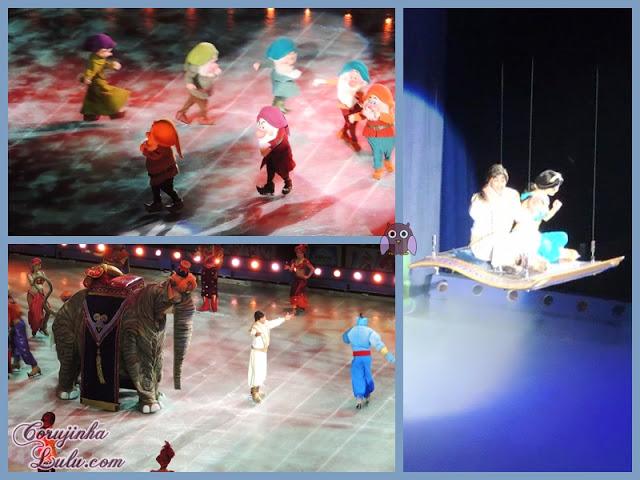 disney on ice tesouros disney 2015 Branca de Neve e os Sete Anões dunga mestre zangado feliz dengoso atchim soneca Aladdin jasmin gênio tapete mágico abu | ©CorujinhaLulu.com