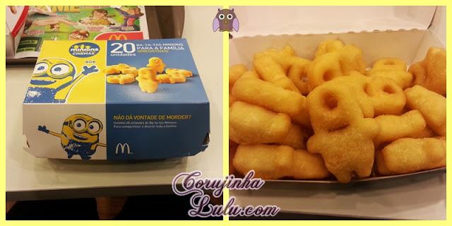 Batata Frita no formato dos Minions meu malvado favorito mc donalds donald's filme smile | ©CorujinhaLulu.com