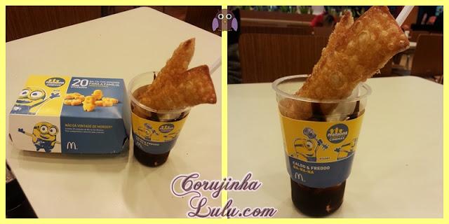 Batatas Minions e Caldo & Freddo com tortinhas de Banana meu malvado favorito mc donalds donald's sobremesa sundae sorvete batata frita | ©CorujinhaLulu.com