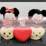 Bolo Rocambole Mickey e Minnie Tsum Tsum