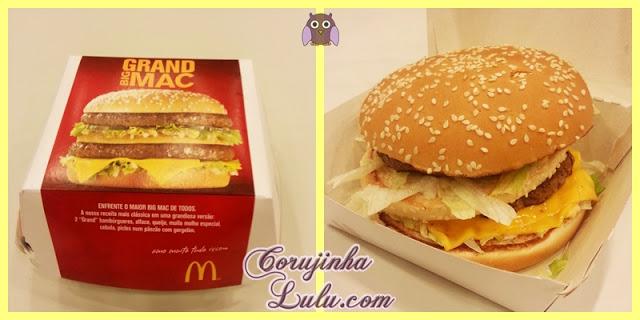 Grand Big Mac mc donalds donald's mega sanduíche lanche hamburguer | ©CorujinhaLulu.com