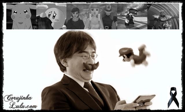 Luto por Satoru Iwata morre big n presidente da Nintendo dies dead mourning pikachu zelda mario kirby metroid samus sad | ©CorujinhaLulu.com