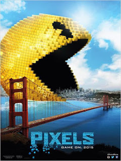 poster pixels filme movie br brazil brasil pacman pac man pac-man 2015 sony columbia pictures