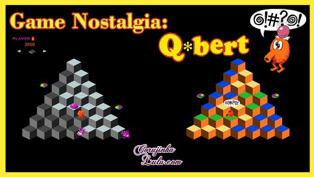 Game Nostalgia dos anos 80: Q*bert versão Rebooted 2015 corujinhalulu.com q-bert qbert cubes atari playstation sony android ios psp arcade jogo clássico games @!#?@!