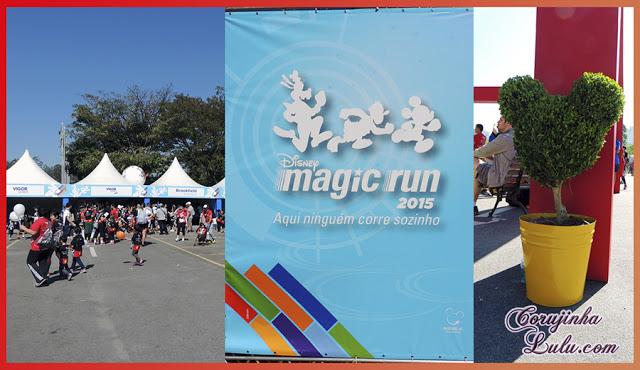 Como foi a Disney Magic Run 2015 em São Paulo arbusto mickey minnie estandes stands aqui ninguém corre sozinho | ©CorujinhaLulu.com