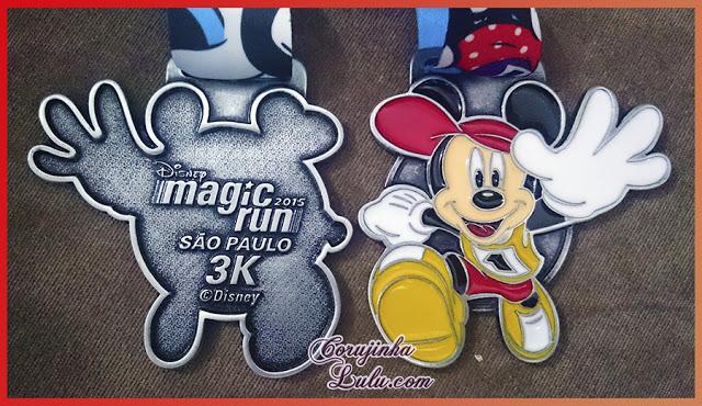 Como foi a Disney Magic Run 2015 em São Paulo medalha corrida caminhada prêmio mickey | ©CorujinhaLulu.com