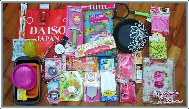 Produtos para cozinha da loja Daiso Japan Brasil itens japão japoneses oriental coreano chinês 1,99 formas silicone cortadores forma cortador talher copo prato filtro vinho | ©CorujinhaLulu.com
