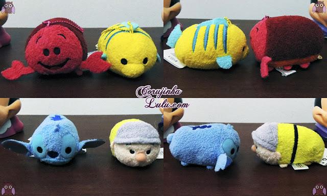 Minha coleção de pelúcias Disney Tsum Tsum + novidade FOM plushes collection mickey minnie bala no alvo sebastião linguado ariel stitch perry dunga | ©CorujinhaLulu.com