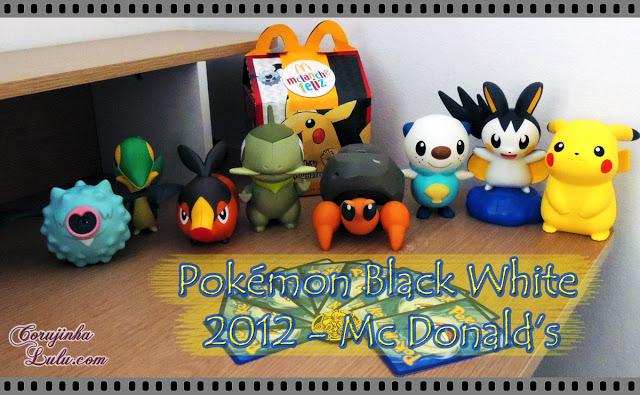 Coleção completa do Pokémon Black and White 2012 Mc Lanche Feliz mc donalds woobat snivy tepig axew dwebble oshawott emolga pikachu pokemon trading card game nintendo happy meal corujinhalulu.com