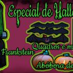 Diy de decoração fácil e barata para Halloween: Baleiro de Frankstein, Quadro de Morcego e Abóbora de papel