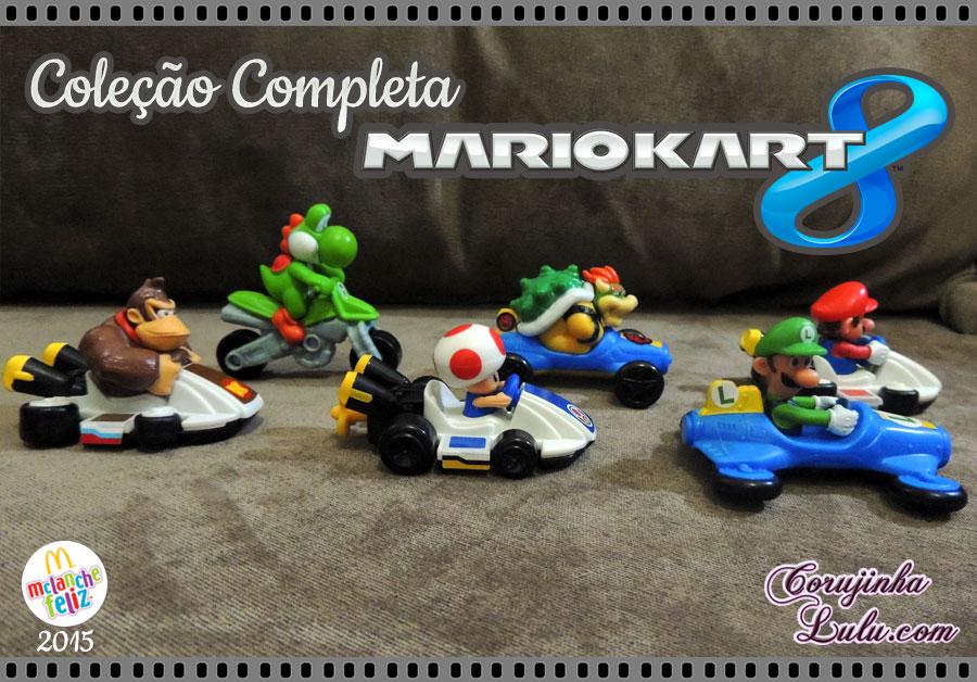 Coleção Completa do Mario Kart 8 - Mc Lanche Feliz Donald's Mario Luigi Yoshi Toad Bowser Donkey Kong DK