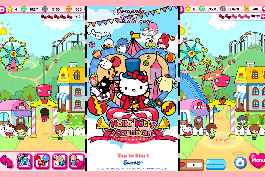 gameplay hello kitty carnival mobile game app sanrio ©corujinhalulu.com