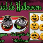 Receitas salgadas para o Halloween: Canapés e Hambúrguer temático