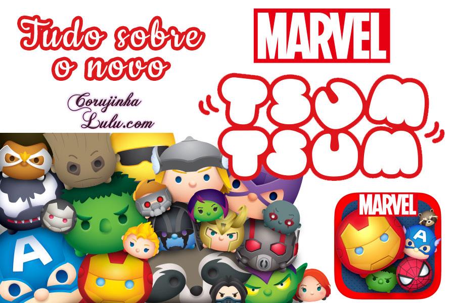Marvel Tsum Tsum jogo game app mobile celular Disney NHN playArt Mixi XFlag corujinhalulu Corujinha Lulu pelúcia plush homem de ferro capitão america hulk homem aranha thor