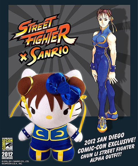 capcom street fighter x sanrio hello kitty chun-li chun li corujinhalulu comic con