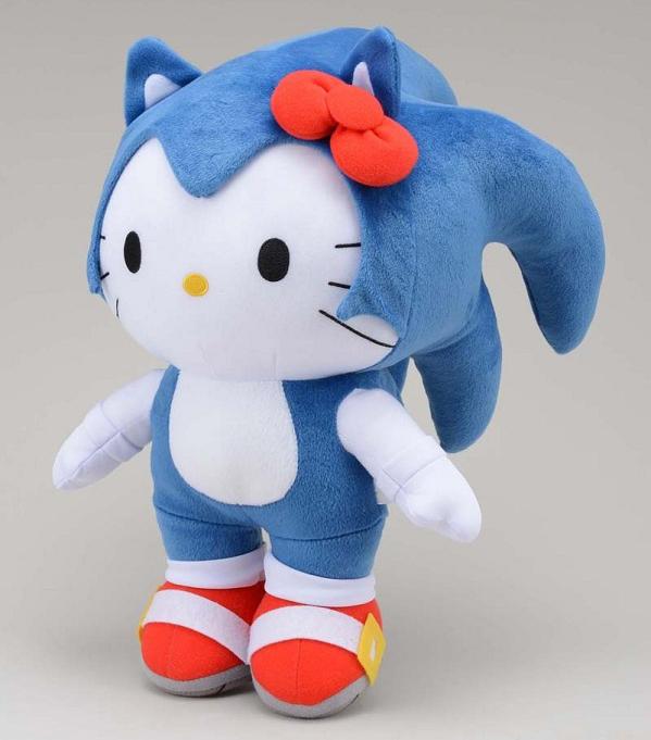 Hello Kitty fantasiada de Sonic sanrio sega collab collabs collaboration 2012 corujinhalulu corujinha lulu