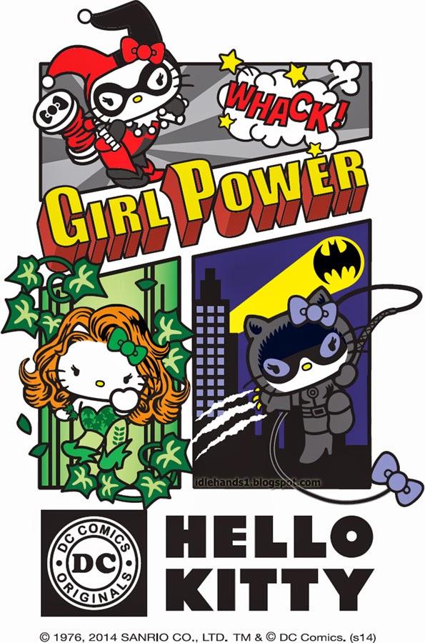 sanrio Hello Kitty DC comics warner bros Super Villains vilas corujinhalulu batman hera venenosa poison ivy arlequina harley quinn mulher gato catwoman