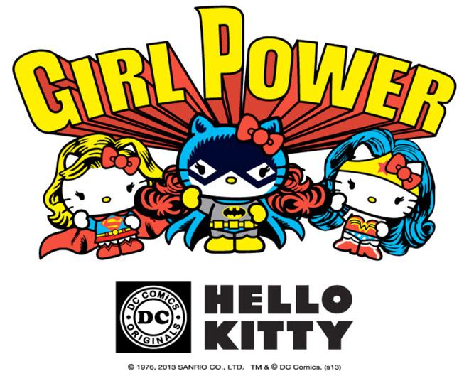 sanrio warner bros hello kitty dc comics collaboration 2014 corujinhalulu girl power super homem superman batman mulher maravilha wonder woman
