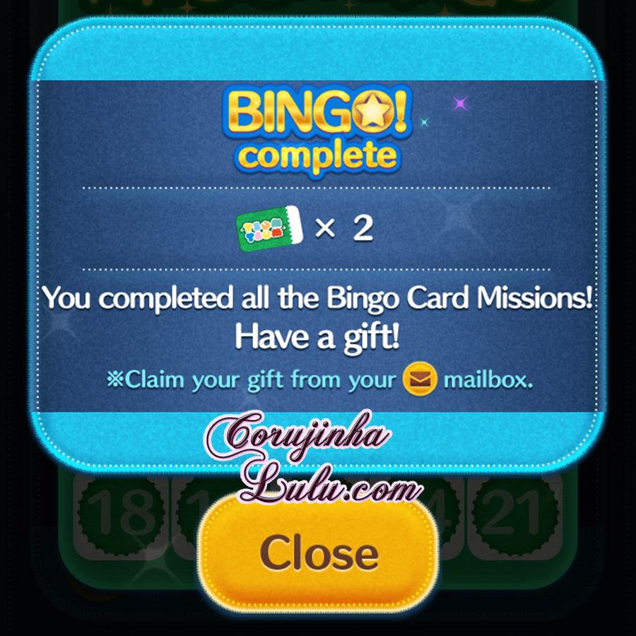 tsum tsum mission bingo cartela 7 completa orujinhalulu