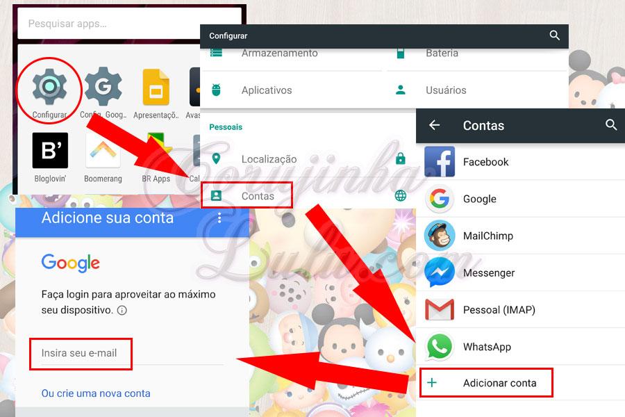 configurando conta google japao como instalar versão japonesa jogo tsum tsum mobile e manter progresso game internacional corujinhalulu | ©CorujinhaLulu.com