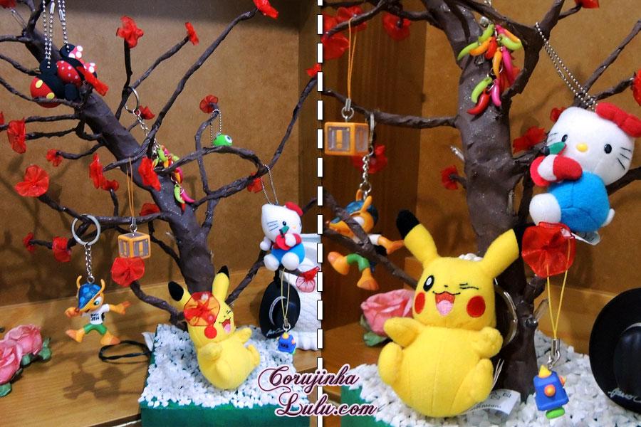 diy faça você mesmo desafio meliuz 3 árvore pisca pisca led decoração coleção chaveiros pikachu hello kitty super mario disney mickey minnie fifa beto carrero corujinhalulu ©Corujinha Lulu.com
