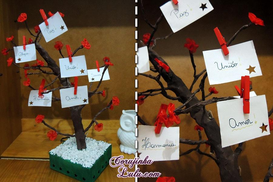 diy faça você mesmo desafio meliuz 3 árvore de desejos pisca pisca led ano novo corujinhalulu ©Corujinha Lulu.com