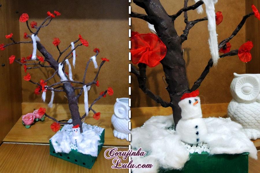 diy faça você mesmo desafio meliuz 3 árvore pisca pisca led decoração estação estações do ano inverno corujinhalulu ©Corujinha Lulu.com