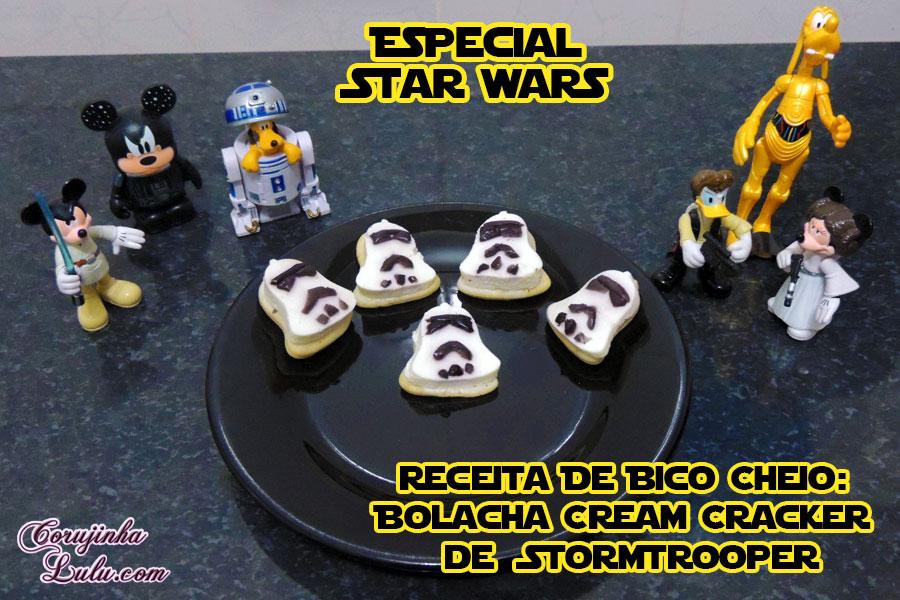 receita bolacha salgada cream cracker stormtrooper de bico cheio especial star wars corujinhalulu corujinha lulu ©CorujinhaLulu.com