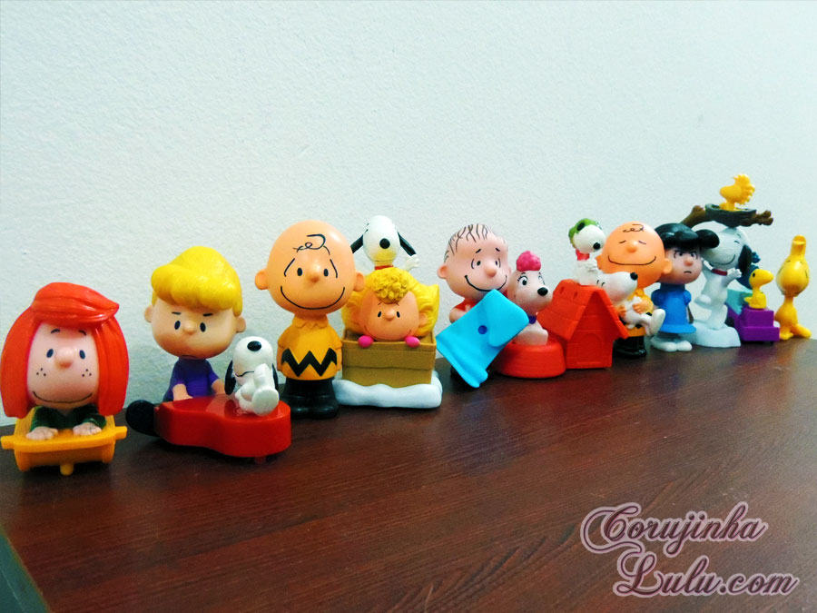 colecao snoopy charlie brown peanuts filme movie mc lanche feliz mc donalds fox film blue sky linus pimentinha woodstock lucy fifi schroeder corujinhalulu ©CorujinhaLulu.com