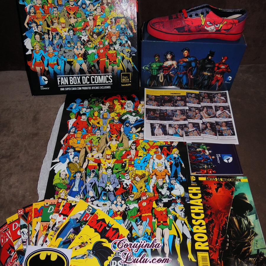 Unboxing Fan Box DC Comics 1 dezembro de 2015 Warner Batman Joker Coringa Superheróis super homem heróis mulher maravilha warner bros corujinha lulu corujinhalulu
