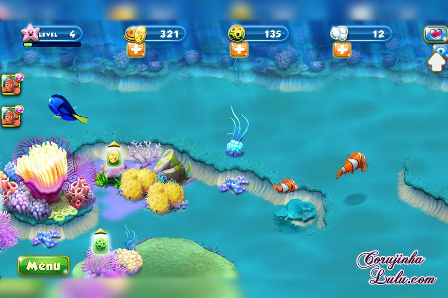App Nemo's Reef: o jogo da Disney Pixar + dicas procurando nemo dory game peixes raros recife coral celular smartphone algas sand dollar corujinhalulu | ©CorujinhaLulu.com